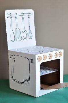 kids toy 35 Easy DIY Cardboard Crafts For Kids Toys Cardboard Kitchen, Cardboard Toys, Cardboard Furniture, Cardboard Crafts Kids, Cardboard Playhouse, Cardboard Castle, Wooden Toys, Carton Diy, Diy Karton