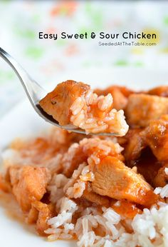 Easy 3-Ingredient Sweet and Sour Chicken in the Slow Cooker by @Seeded at the Table | Nikki Gladd