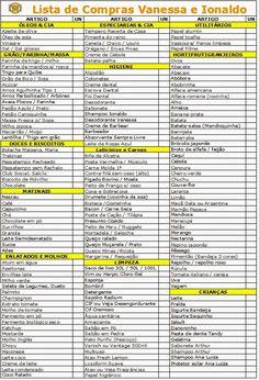 Lista de Compras de Supermercado separada por setor - blog Meu Lar Doce Lar