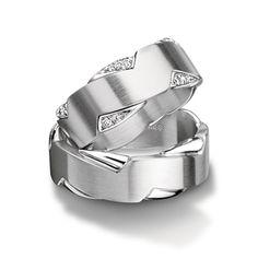 Zig zag men's band. Furrer Jacot Magiques in white gold, platinum or palladium 8.00mm