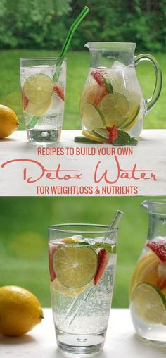 Build Your Own Detox Water for Weightloss & Nutrients - Green Smoothie Gourmet