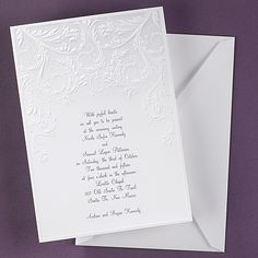 Embossed Vintage Design - Invitation