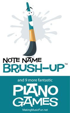 Beginners Piano Ramp up the fun with Note Name Brush-Up and nine more music theory games that drill piano finger numbers, treble and bass clef note names, and basic rhythms. Piano Lessons For Kids, Kids Piano, Music Lessons, Art Lessons, Music Games For Kids, Piano Games, Music Activities, Music Theory Games, Music Theory Worksheets