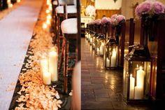 decoracao para casamento simples na igreja velas