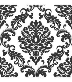 WallPops® NuWallpaper™ Ariel Black and White Damask Peel And Stick Wallpapernull