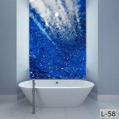 Panele szklane / glass panels interior design łazienka / bathroom