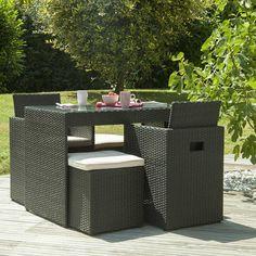 Salon de jardin en résine tressée 5 places http://www.delamaison.fr ...
