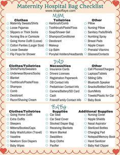 Maternity Checklist Photo More