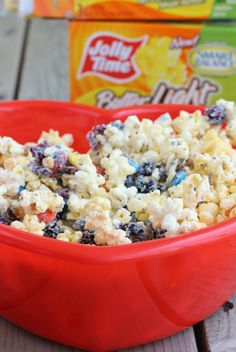 Popcorn Snack Mix {with surprise ingredients!} | Rachelcooks.com