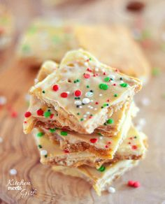 White Chocolate Cookie Butter Toffee Crack