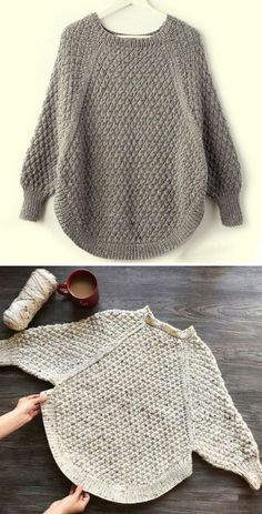 Baby Boy Knitting Patterns Free, Baby Hats Knitting, Sweater Knitting Patterns, Knitted Poncho, Knit Patterns, Free Knitting, Crochet Patron, Knit Crochet, Crochet Clothes