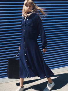 234029-420 - Department 2 Women Type 34 Dresses Product 234029 Material 420 Viscose - Photographer: Zoe Ghertner Stylist: Jodie Barnes Model: Klara Kristin #ARKET
