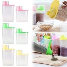 Plastic food storage container. Preserves the freshness of dry foods such as cereals,flour,pasta etc. Keeps things tidy and also prevents ants and rodents. Hand holding and replaceable cover for easy pouring. What are you waiting for, go ahead and keep the orders coming😃🙂 Available in cool colours.  DM/Call 08183944721 #boldnuances #kitchenware #kitchentools #home #living #gifts #souvenir #lifestyle #businesslady #july  Yummery - best recipes. Follow Us! #kitchentools #kitchen