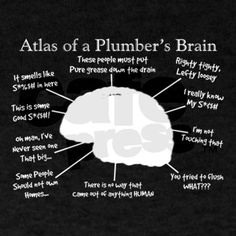Atlas of a Plumbers Brain Darks.PNG T-Shirt on CafePress.com