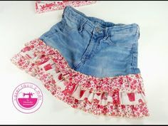 Gonna con voulants ricicando i vecchi jeans - Tutorial Jean Court, Old Jeans, Diy Clothing, Fashion Outfits, Womens Fashion, Fashion Ideas, Curvy Fashion, Denim Skirt, Clothes For Women