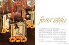 vintage halloween favor sacks HandCrafted 2011 Volume 7 - Stampington
