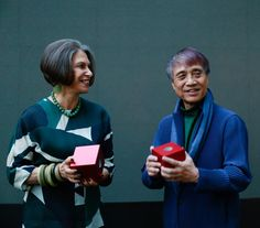 Architect Tadao Ando and artist Elyn Zimmerman, honorees of the 2016 Isamu Noguchi Award, presented last night at the Museum's annual spring benefit.  We are honored to celebrate these individuals who share Noguchi's spirit of innovation, global consciousness, and East-West exchange. #TadaoAndo #ElynZimmerman  Photo: David X Prutting/BFA.com