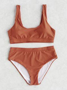 Shop Double Scoop Neck Bikini Set online. SheIn offers Double Scoop Neck Bikini Set & more to fit your fashionable needs.