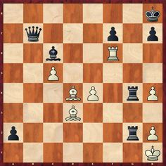 Attacking chess tactic. Black to move. How should Black proceed? More puzzles on www.echecs-et-strategie.fr #chess #echecs