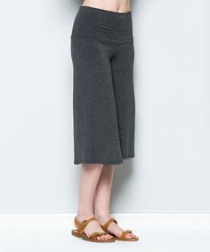 Acting Pro Charcoal Gaucho Pants | zulily