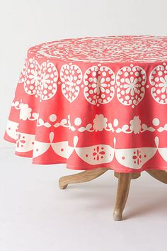 Mina Tablecloth, Round #anthropologie
