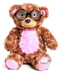 Look what I found on #zulily! Lenz Frenz Teddy-Pink Stuffed Animal Glasses Case Set by Lenz Frenz #zulilyfinds