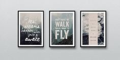 via The Loop Beautiful use of black frames for prints.