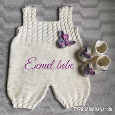 """672 Beğenme, 20 Yorum - Instagram'da Ecmel Bebe (@ecmelbebe): """"Rukiye hanımın prensesine bence çok yakışacak güle güle giysin 🐭🐭…"""" How To Start Knitting, Knitting For Kids, Baby Knitting Patterns, Baby Patterns, Baby Boy Sweater, Baby Vest, Crochet Onesie, Crochet Baby, Baby Overalls"""