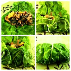 Swiss chard rolls stuffed with quinoa and mushrooms in roasted red ...