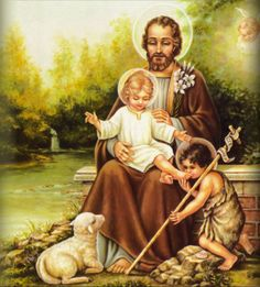 St Joseph,  St John the Baptist, and the young Jesus