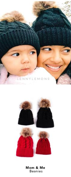 """For all the moms + kids that would rather be """"Twinning"""" :) Knit Design, Cotton/Wool Mix, Classic colors to match any outfit. Perfect gift for a mom to be, baby shower, birthday, winter fashion for babies. Lenny Lemons Babies & Toddler Apparel. (pic: Penelope Dahler)"""