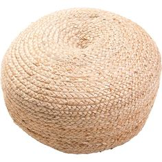 Saba is a natural fiber pouf. We are using thermocol beads which keep their shape longer.  Color: Natural Construction: Poufs Style: Transitional Content: 100% Jute with Thermocoal Bean Filling Origin: India