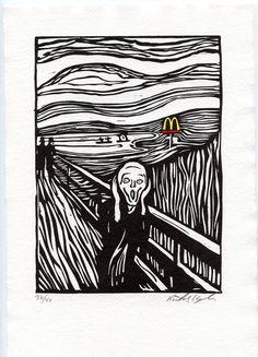 McScream Woodcut