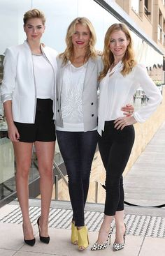 Cameron Diaz, Leslie Mann, Kate Upton, The Other Woman, figure, style, fashion, sydney, airport, friends
