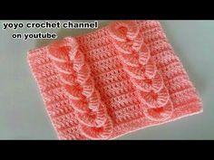 24 Ideas For Crochet Blusas Bebe Tricot Entrelac, Tunisian Crochet, Crochet Motif, Crochet Flowers, Crochet Stitches, Knit Crochet, Crochet Hats, Youtube Crochet Patterns, Baby Knitting Patterns