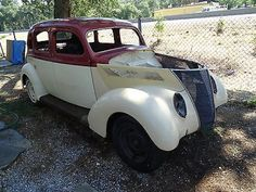 Ford : Other Slantback 1937 Ford Slant Back 4 Door Hot Rod Project Very Clean California Car - http://www.legendaryfind.com/carsforsale/ford-other-slantback-1937-ford-slant-back-4-door-hot-rod-project-very-clean-california-car-3/
