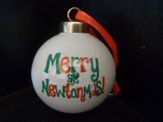 MERRY NEWTONMAS Christmas ORNAMENT Inspired by TheMugglyDuckling, $9.95