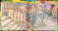 The Time Garden Coloring Book Daria Song #TheTimeGarden #dariasong Rooftop Stairway