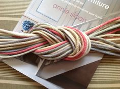 Had no idea you could do this! Cotton cords dyed with Chalk Paint® decorative paint by Annie Sloan.