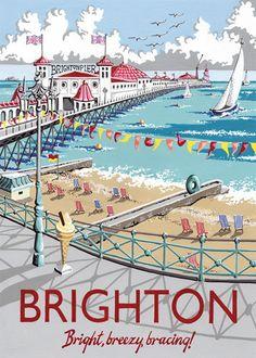 Brighton Art Print by Kelly Hall at King & McGaw