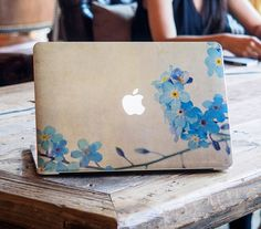 Macbook pro top decal Mac retina front Decal by freestickersdecal, $19.99 ........ Alaskan state flower: forget me nots