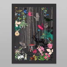 Forest Animals Print by Cloud 9 Creative - Art Prints NZ Art Prints, Design Prints, Posters & NZ Design Gifts | endemicworld