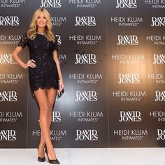 Heidi Klum wearing Rachel Gilbert for David Jones Store launching Heidi Klum Intimates