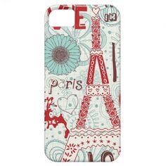 Cute Paris I Phone case. iPhone 5 Case #zazzle #iphone #iphonecase