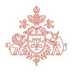 monoline | Tumblr crest logo icon design lion illustration animals