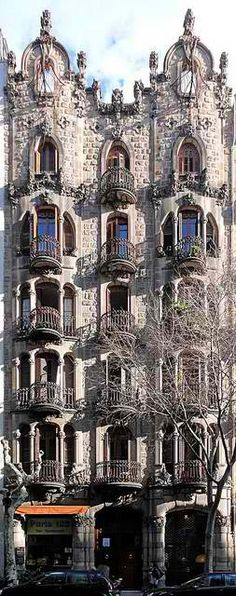 Casa Torres Germans, Barcelona. The architecture throughout the city is stunning #barcelona #barcelonawedding