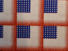 Simple patterns in red, blue and cream #Design #Inspiration
