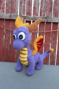 Purple Spyro Inspired Dragon Crochet by MilesofCrochet, $62.00