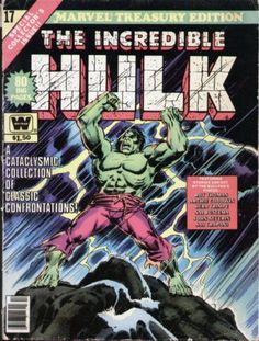 Marvel Treasury Edition 17 Incredible Hulk RARE Whitman Variant VG F | eBay