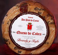 LÁCTEAS DON PICÓN DE CUENCA: Queso de Cabra curado madurado en brandy y trufa. Fuentidueña de Tajo. Madrid.